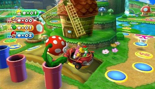 Mario Party 9 Mit Dem Auto über Das Spielbrettin Den Abgrund